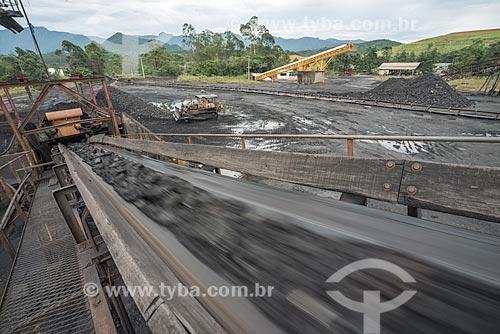 Esteira para transporte de carvão - Mina Fontanella - Carbonífera Metropolitana  - Treviso - Santa Catarina (SC) - Brasil