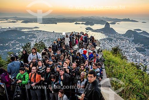 Passagem da Tocha Olímpica pelo Cristo Redentor (1931)  - Rio de Janeiro - Rio de Janeiro (RJ) - Brasil