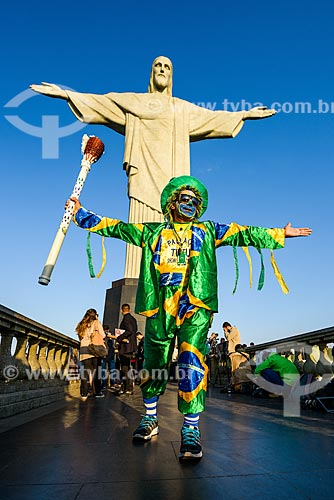 Passagem da Tocha Olímpica pelo Cristo Redentor - Cristo Redentor (1931)  - Rio de Janeiro - Rio de Janeiro (RJ) - Brasil