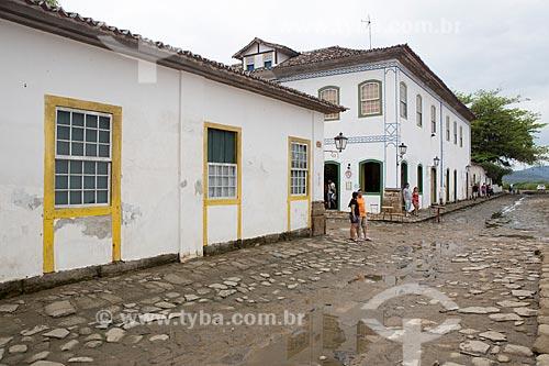 Rua Doutor Samuel durante a Maré Baixa (Maré de Sizígia)  - Paraty - Rio de Janeiro (RJ) - Brasil