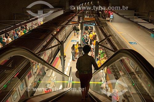 Passageiro no Metrô Linha 4  - Estação General Osório  - Rio de Janeiro - Rio de Janeiro (RJ) - Brasil