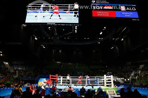 Luta de boxe durante as Olimpíadas Rio 2016  - Rio de Janeiro - Rio de Janeiro (RJ) - Brasil