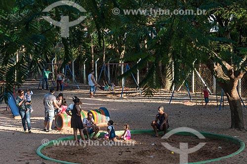 Parquinho infantil no lago municipal  - Garça - São Paulo (SP) - Brasil