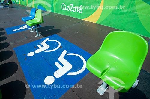 Lugares para deficientes físicos no Estádio de Canoagem Slalom  - Rio de Janeiro - Rio de Janeiro (RJ) - Brasil