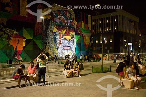 Mural Etnias - Orla Prefeito Luiz Paulo Conde (2016)  - Rio de Janeiro - Rio de Janeiro (RJ) - Brasil