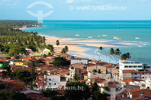 Vista geral da orla de Maragogi a partir do Mirante do Cruzeiro  - Maragogi - Alagoas (AL) - Brasil