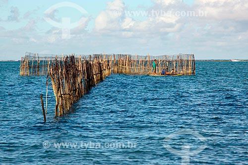 Pescadores na Praia Ponta de Mangue  - Maragogi - Alagoas (AL) - Brasil
