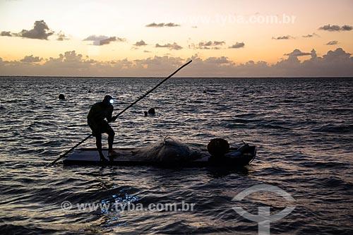 Pesca noturna na Praia Ponta de Mangue  - Maragogi - Alagoas (AL) - Brasil