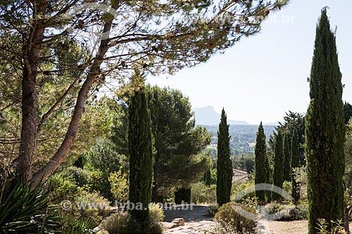 Vista do Terrain des Peintres (Terreno dos pintores)  - Aix-en-Provence - Departamento de Alpes da Alta Provença - França