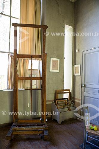 Cavalete no interior do atelier de Paul Cézanne  - Aix-en-Provence - Departamento de Alpes da Alta Provença - França