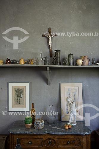 Interior do atelier de Paul Cézanne  - Aix-en-Provence - Departamento de Alpes da Alta Provença - França