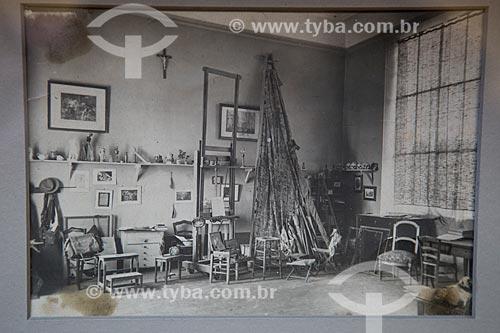 Reprodução de fotografia do atelier de Paul Cézanne na década de 1930  - Aix-en-Provence - Departamento de Alpes da Alta Provença - França
