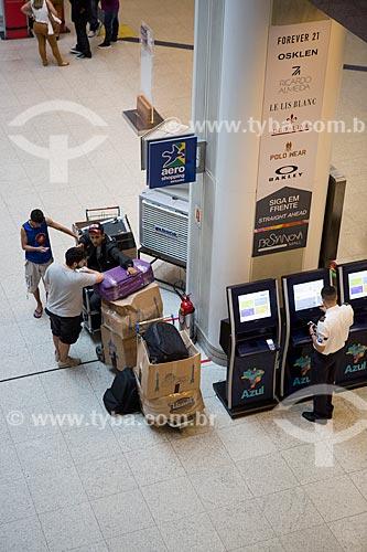 Terminais de autoatendimento no hall do Aeroporto Santos Dumont  - Rio de Janeiro - Rio de Janeiro (RJ) - Brasil