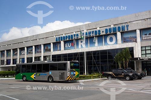 Fachada do Aeroporto Santos Dumont  - Rio de Janeiro - Rio de Janeiro (RJ) - Brasil