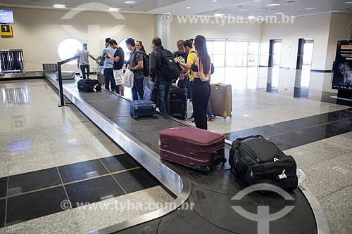 Esteira de bagagem no Aeroporto Santa Genoveva  - Goiânia - Goiás (GO) - Brasil