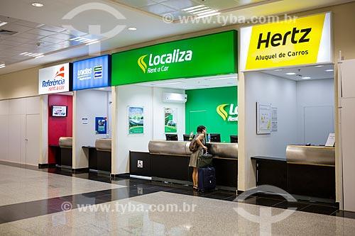 Guichê de atendimento de empresas de aluguel de carro no Aeroporto Santa Genoveva  - Goiânia - Goiás (GO) - Brasil