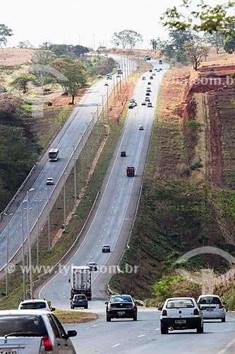 Vista do Km 34 da Rodovia Jayme Câmara (GO-070) - próximo a cidade de Caturaí  - Caturaí - Goiás (GO) - Brasil