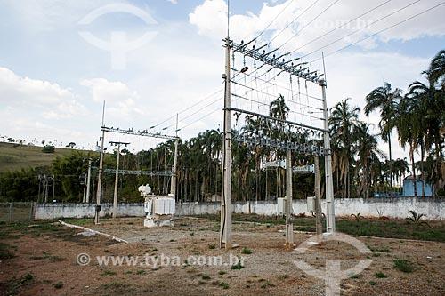 Subestação da Companhia CELG - concessionária de serviços de transmissão de energia  - Itauçu - Goiás (GO) - Brasil