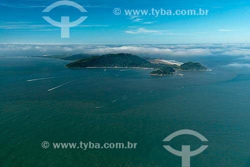 Vista aérea da Ilha do Mel  - Paranaguá - Paraná (PR) - Brasil