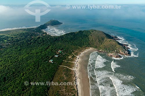 Vista aérea da Praia Grande - Ilha do Mel  - Paranaguá - Paraná (PR) - Brasil