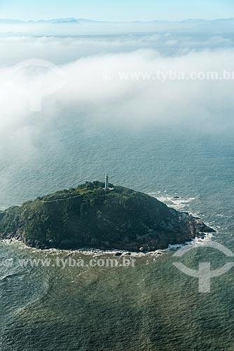 Vista aérea do Farol das Conchas - Ilha do Mel  - Paranaguá - Paraná (PR) - Brasil