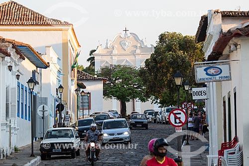 Rua Moretti Foggia com a Igreja de Nossa Senhora da Boa Morte (1779) - também abriga o Museu de Arte Sacra da Boa Morte - ao fundo  - Goiás - Goiás (GO) - Brasil