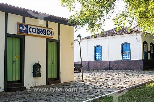 Agência dos Correios próximo à Praça Doutor Brasil Caiado - também conhecida como Praça do Chafariz  - Goiás - Goiás (GO) - Brasil