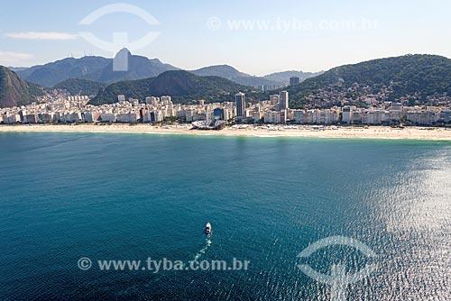 Foto aérea da Praia de Copacabana  - Rio de Janeiro - Rio de Janeiro (RJ) - Brasil