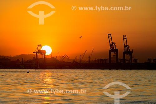 Pôr do sol no Porto do Rio de Janeiro  - Rio de Janeiro - Rio de Janeiro (RJ) - Brasil