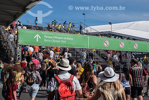 Público das Olimpíadas Rio 2016 chegando na Estação BRT Morro do Outeiro  - Rio de Janeiro - Rio de Janeiro (RJ) - Brasil