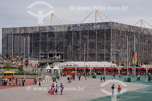 Fachada do Centro Olímpico de Esportes Aquáticos - parte do Parque Olímpico Rio 2016  - Rio de Janeiro - Rio de Janeiro (RJ) - Brasil