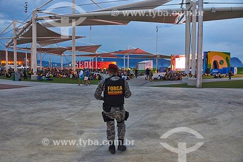 Soldado da Força Nacional no Parque Olímpico Rio 2016  - Rio de Janeiro - Rio de Janeiro (RJ) - Brasil