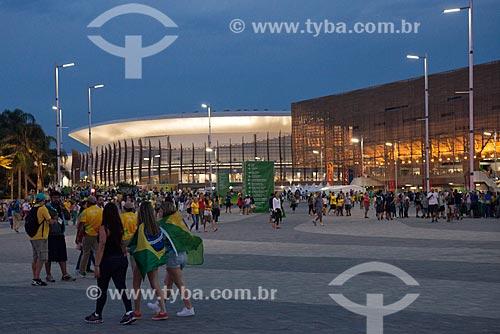 Público no Parque Olímpico Rio 2016 - Arena do Futuro e Arena Carioca 1 ao fundo  - Rio de Janeiro - Rio de Janeiro (RJ) - Brasil