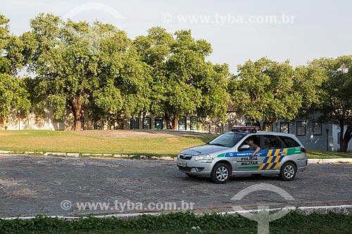 Policiamento na Praça Doutor Brasil Caiado - também conhecida como Praça do Chafariz  - Goiás - Goiás (GO) - Brasil