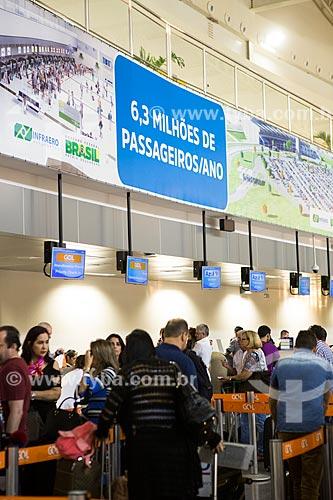 Check-in no Aeroporto Santa Genoveva  - Goiânia - Goiás (GO) - Brasil