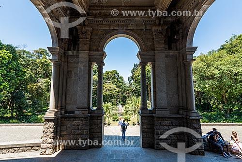 Entrada do Prédio da Escola de Artes Visuais do Parque Henrique Lage - mais conhecido como Parque Lage  - Rio de Janeiro - Rio de Janeiro (RJ) - Brasil