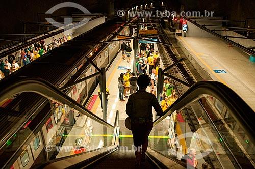 Interior da Estação General Osório do Metrô Rio - Linha 4  - Rio de Janeiro - Rio de Janeiro (RJ) - Brasil