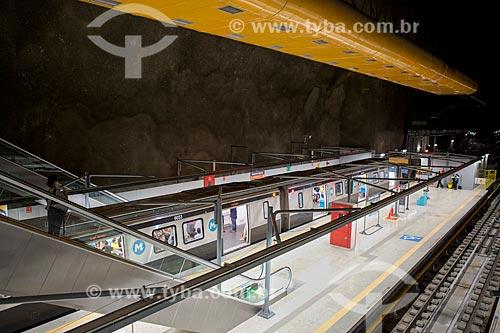 Plataforma da Estação General Osório - Metrô Linha 4  - Rio de Janeiro - Rio de Janeiro (RJ) - Brasil