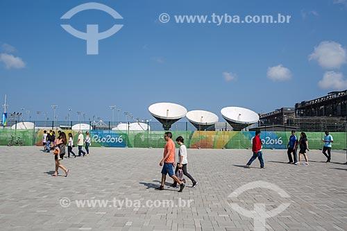 Antenas parabólicas no Parque Olímpico Rio 2016 - antigo Autódromo Internacional Nelson Piquet - Autódromo de Jacarepaguá  - Rio de Janeiro - Rio de Janeiro (RJ) - Brasil