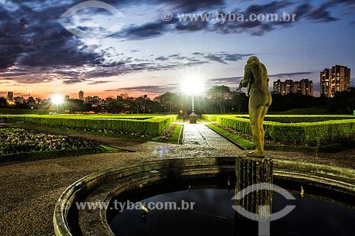 Jardim Botânico de Curitiba ou Jardim Botânico Francisca Maria Garfunkel Richbieter ao anoitecer  - Curitiba - Paraná (PR) - Brasil