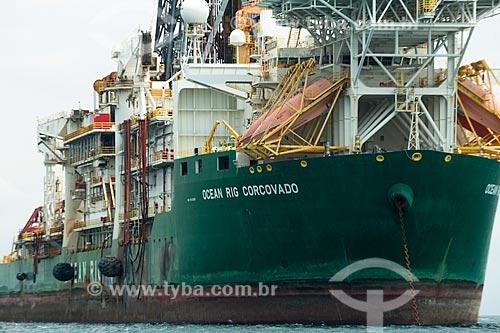 Navio de perfuração Ocean Rig Corcovado na Baía de Angra dos Reis  - Angra dos Reis - Rio de Janeiro (RJ) - Brasil