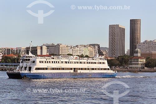 Barca Neves V - utilizada na travessia entre Rio e Niterói  - Rio de Janeiro - Rio de Janeiro (RJ) - Brasil