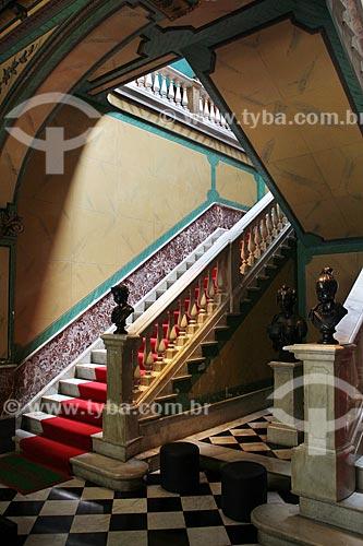 Interior do Palácio Cruz e Sousa - antiga sede do Governo do Estado, atual Museu Histórico de Santa Catarina  - Florianópolis - Santa Catarina (SC) - Brasil