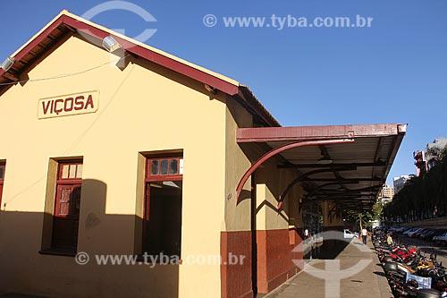 Antiga Estação Ferroviária de Viçosa - hoje abriga o espaço cultural e biblioteca  - Viçosa - Minas Gerais (MG) - Brasil