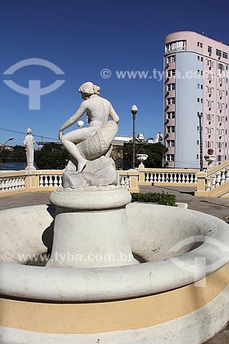 Detalhe da fonte da Escadaria Bárbara Lindemberg (1886)  - Vitória - Espírito Santo (ES) - Brasil