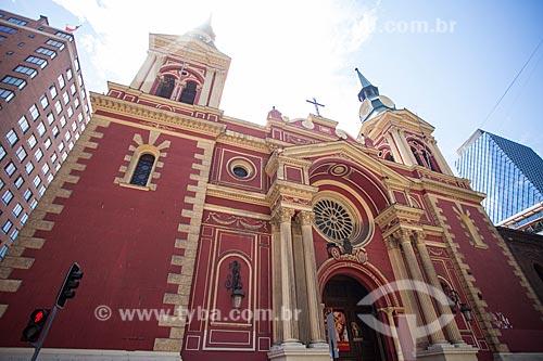 Fachada da Basílica de la Merced (Basílica de Nossa Senhora das Mercedes) - 1548  - Santiago - Província de Santiago - Chile