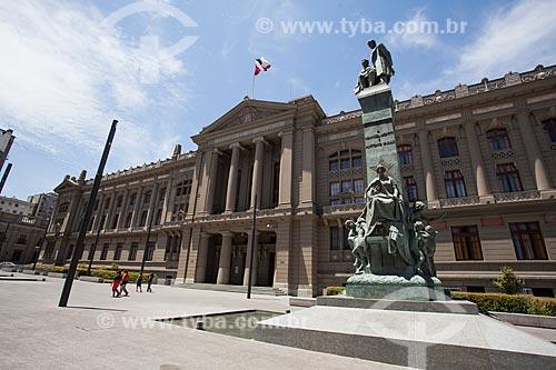 Fachada do Palacio de los Tribunales de Justicia de Santiago (Palácio da Justiça) - 1930  - Santiago - Província de Santiago - Chile
