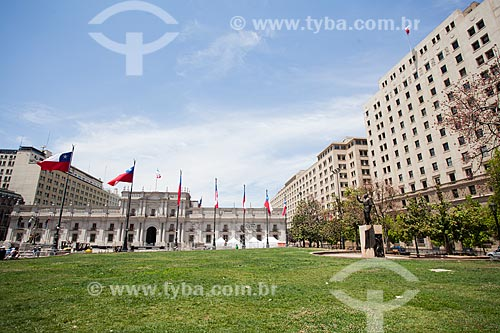 Fachada do Palácio de La Moneda (1805) - sede do governo do Chile  - Santiago - Província de Santiago - Chile