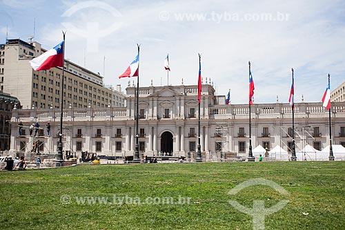 Fachada do Palácio de La Moneda (1805) - sede do governo do Chile  - Santiago - Província de Santiago - Chile