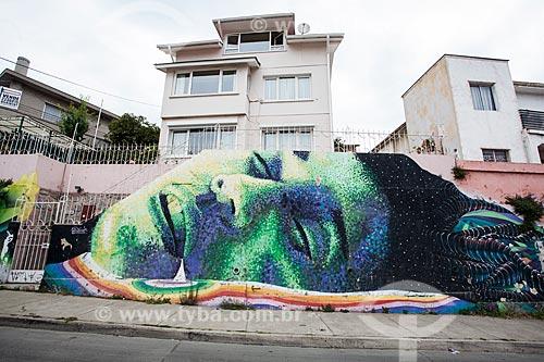 Grafite na cidade de Valparaíso  - Valparaíso - Província de Santiago - Chile